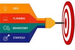 Strzałka celu sukcesu pojęcia biznesowy infographics Może używać dla obieg układu, diagram sieci projekt, infographics Fotografia Stock