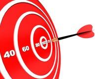 strzałki ciupnięcia cel Zdjęcia Stock