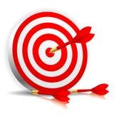 strzałki ciupnięcia cel Fotografia Stock