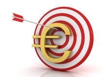 strzałki euro sukces Obrazy Royalty Free