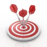 strzałki target1215_1_ cel Obrazy Royalty Free
