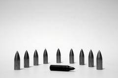 Strzałkowaci pociski na białym tle Obraz Royalty Free