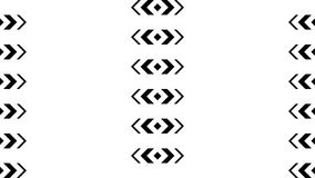 Strzałkowata formacja przemiana dzielił cztery sekcjami w wideo transmitowaniu, dobrze royalty ilustracja