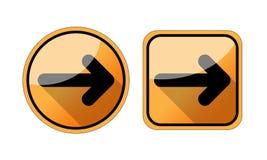 Strzałkowata ikona w modnym mieszkanie stylu odizolowywającym na białym tle Strzałkowaty symbol dla twój strona internetowa proje obraz stock