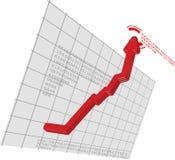 strzałkowata wykresu ruchu czerwień strzałkowaty vector Zdjęcie Stock