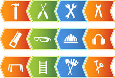 strzałkowate guzika narzędzia ikony serie ustawiać royalty ilustracja
