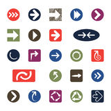 Strzałkowate ikony Zdjęcie Stock