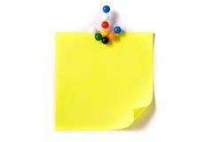 strzałkowate pomysłu notatki oryginalnego papieru szpilki Fotografia Stock