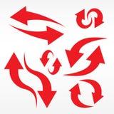 strzałkowate ustawić symbole Zdjęcie Stock