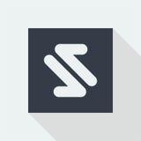 strzałkowatej ikony płaski projekt, strzałkowaty guzik Zdjęcie Stock