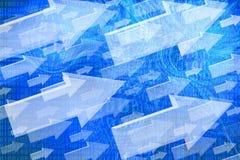 Strzałkowaty abstrakcjonistyczny tło. Obraz Stock