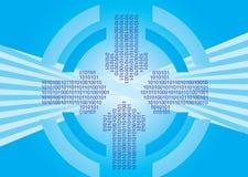 strzałkowaty binary okrąża kody ilustracja wektor