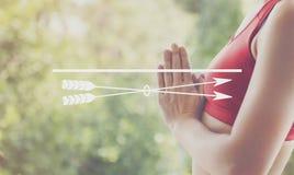 Strzałkowaty Bramkowy celów dążeń Purpose kopii przestrzeni pojęcie Fotografia Royalty Free