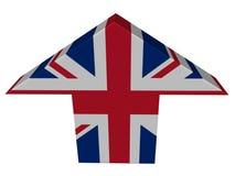 strzałkowaty British strzałkowata flaga ilustracja wektor