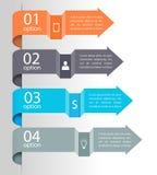 Strzałkowaty infographic tło Fotografia Stock