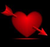 strzałkowaty kierowy valentine Zdjęcia Royalty Free