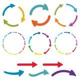 Strzałkowaty piktograma set Prosta kolor sieci ikona na białym tle wektor Zdjęcie Stock