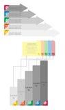 Strzałkowaty projekt dla biznesowej pojęcie informaci grafiki Obraz Royalty Free