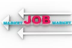 strzałkowaty rynek pracy Zdjęcie Royalty Free