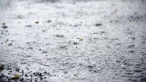 Strzału deszcz na wody powierzchni zbiory