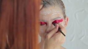 4 strzału Fachowy makijaż tworzy twarzy makeup sztukę zdjęcie wideo