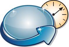 strzała banner zegar zegar Obrazy Stock