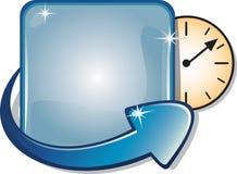 strzała banner zegar zegar Fotografia Stock