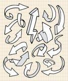 strzała doodle Ilustracji