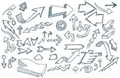 strzała doodle Zdjęcie Stock