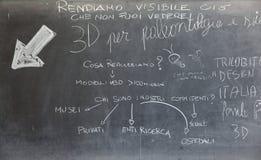 Strzała i tekst na chalkboard Zdjęcie Royalty Free