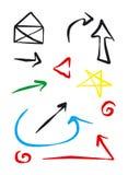 strzała ikony Fotografia Stock