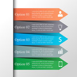 Strzała infographic szablon Fotografia Stock
