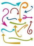 strzała inkasowy koloru ilustraci wektor Obraz Royalty Free