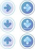 Strzałkowate ikony Zdjęcia Royalty Free