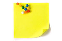 strzałkowate nutowego papieru szpilki Zdjęcie Stock