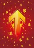 strzałkowaty dolar Zdjęcia Royalty Free