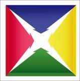 Strzałkowaty ikona gradient Obrazy Stock