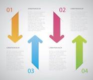 Strzałkowaty Infographic Zdjęcie Royalty Free
