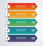 Strzałkowaty infographic szablon z 3 krokami Fotografia Royalty Free