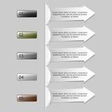 Strzałkowaty infographics Obrazy Royalty Free