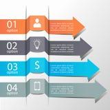 Strzałkowaty infographics szablon Zdjęcie Royalty Free