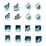 Strzałkowaty inwestorski logo Obraz Stock