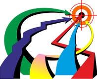 Strzałkowaty koloru cel Zdjęcia Stock