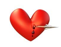 strzałkowaty krwawienia przodu serce Zdjęcia Royalty Free