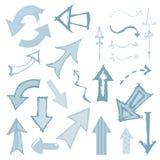 strzałkowaty monochromatyczny set ilustracja wektor