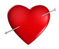strzałkowaty serce Fotografia Stock
