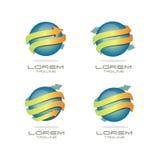 Strzałkowaty sfera logo Obrazy Royalty Free