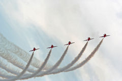 strzała lotniczych czerwony show Obrazy Stock