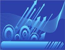 strzała niebieskie Fotografia Stock