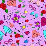 strzała serc wzory bezszwowi dwa Obraz Royalty Free